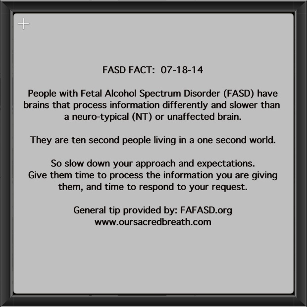 FASD Fact:  Friday, July 18, 2014