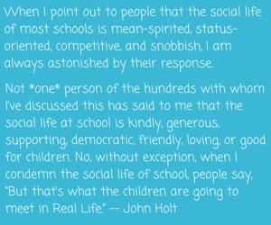 School quote John Holt