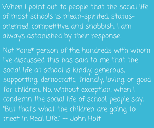 School quote John Holt