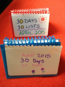 30 Days of Lists: April 2015