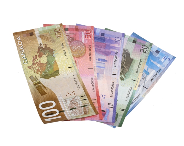 Colour Canadian Money