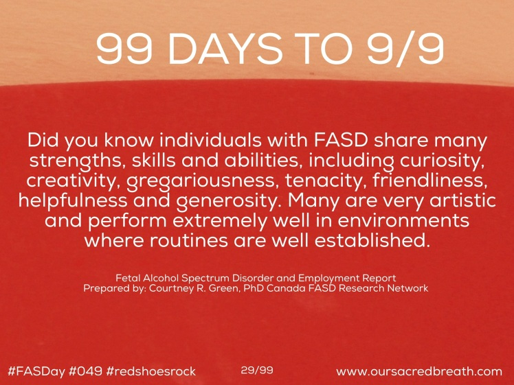 Day 29 of 99 days to FASDay