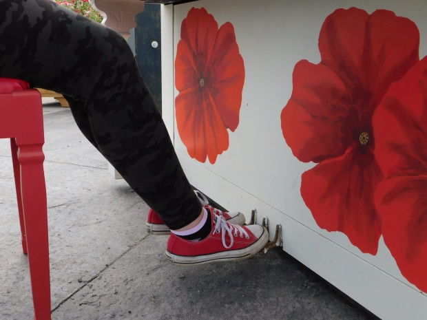 Red Shoes Rock the Poppy Piano