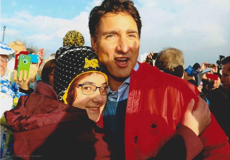 Nicole meets PM Trudeau