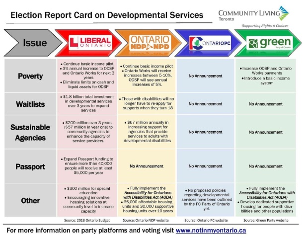 Developmental Services Party Election Platforms