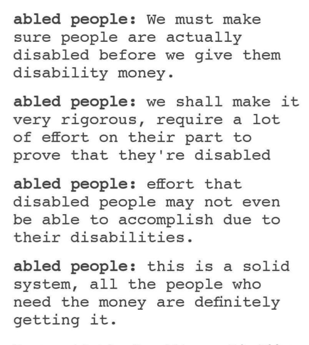 Abled People Quote about Disabled