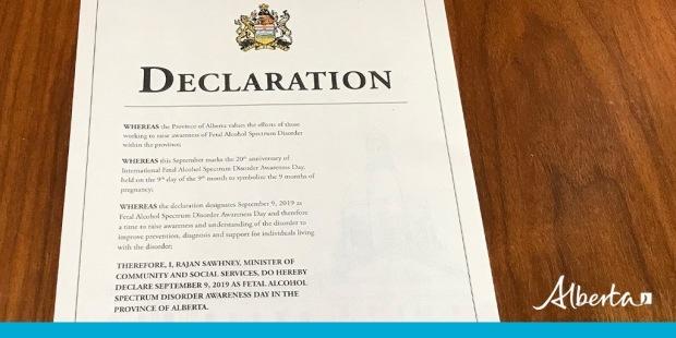 Alberta declares FASDay