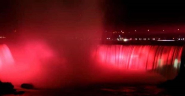 Niagara Falls goes red for FASDay
