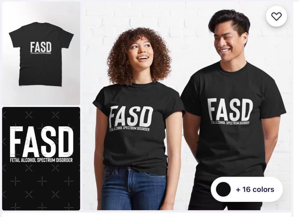FASD black t shirt